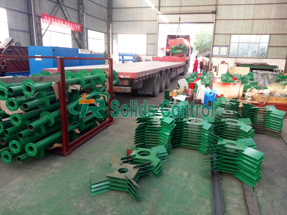 Solids control equipment delivery, API certified solids control product, drilling mud agitator