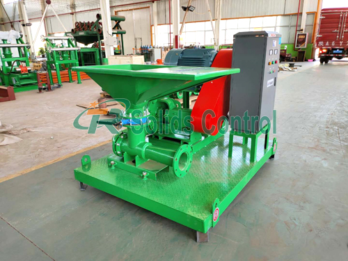 Shear type jet mud mixer, drilling fluid jet mud mixer