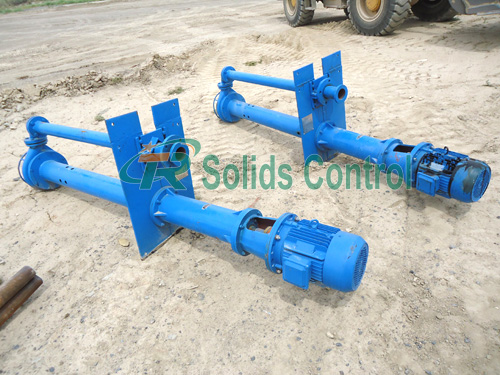 Submersible slurry pump for oil and gas, drilling fluid submersible pump