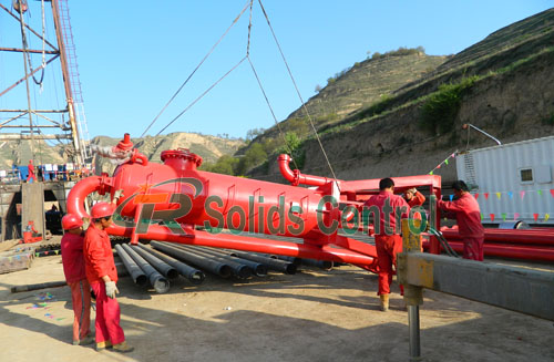 Mud gas separator for oil and gas, drilling liquid gas separator
