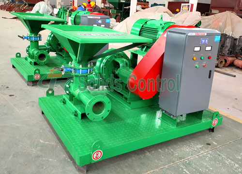 Jet Mud Mixers for Subway Construction Site title=